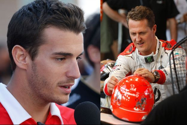 Jules Bianchi en Corée, le 3 octobre 2013 - Michael Schumacher à Bangkok, le 15 décembre 2012