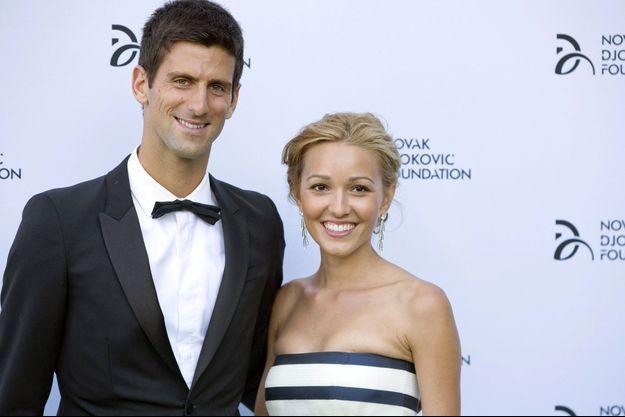 Novak Djokovic et son épouse Jelena.