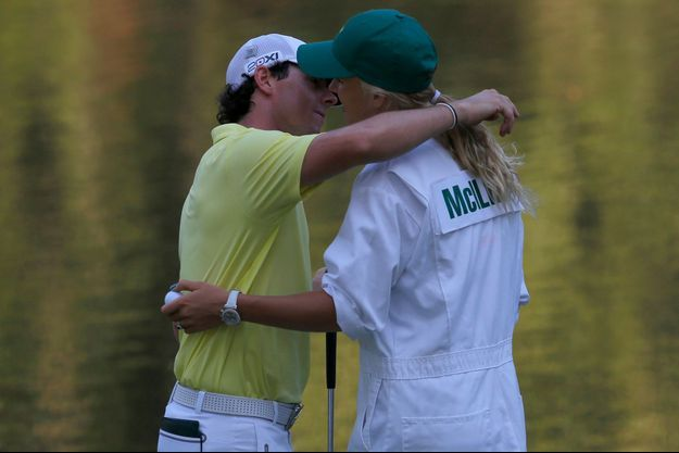Rory McIllroy et Caroline Wozniacki, en avril dernier à Augusta.