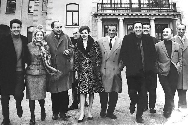 Lino Ventura, avec Michel Audiard (à dr.).