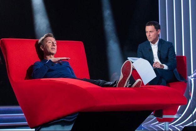 """Stéphane Bern et Marc-Olivier Fogiel dans """"Le Divan""""."""