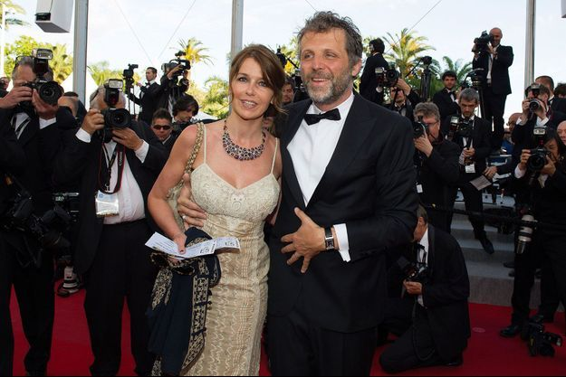 Muriel Cousin et Stéphane Guillon au festival de Cannes en 2012.