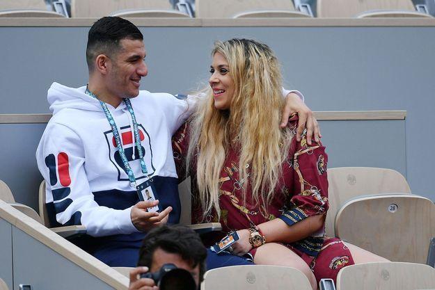 Marion Bartoli et Yahya Boumediene à Roland-Garros, en mai 2019.