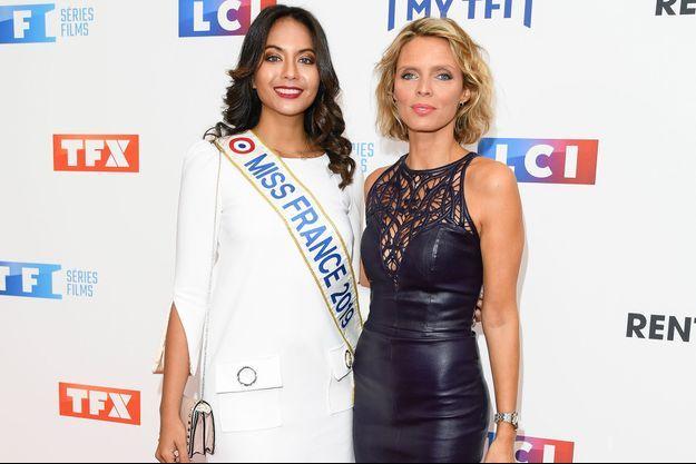 Vaimalama Chaves et Sylvie Tellier à Paris le 9 septembre 2019.