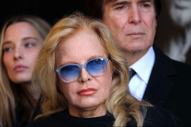Sylvie Vartan à l'enterrement de Johnny Hallyday à l'église de la Madeleine le 9 décembre 2017