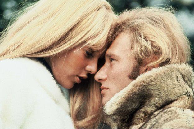 Sylvie Vartan et Johnny Hallyday en 1970.