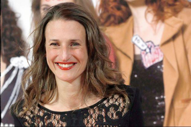 """Camille Cottin à l'avant-première du film """"Les Gazelles"""" à Paris en 2014."""