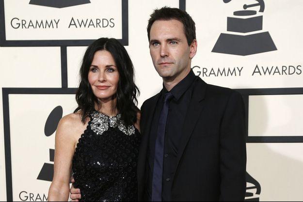 Courteney Cox et Johnny McDaid aux Grammy Awards le 9 février 2015 à Los Angeles.