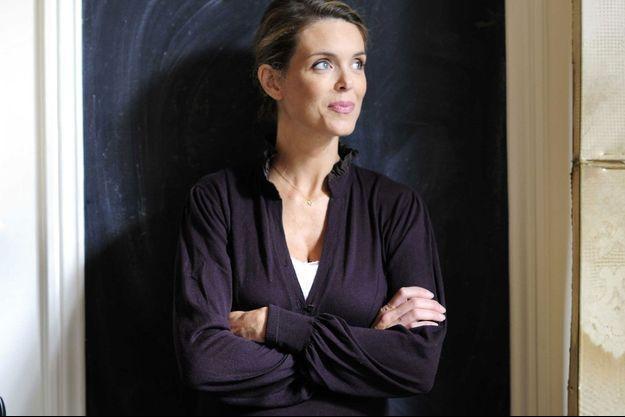 Julie Andrieu en 2016 chez elle.