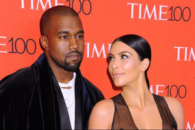 Kanye West et Kim Kardashian à New York le 21 avril dernier