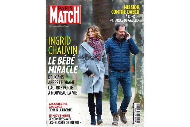 Ingrid Chauvin en Une de Match cette semaine.