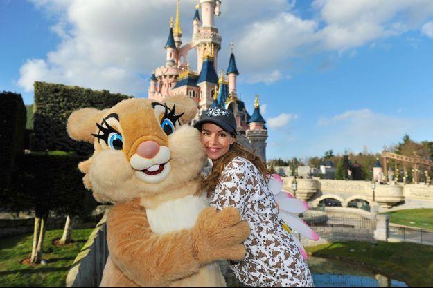 Ingrid Chauvin à Disneyland Paris, le 4 mars 2015
