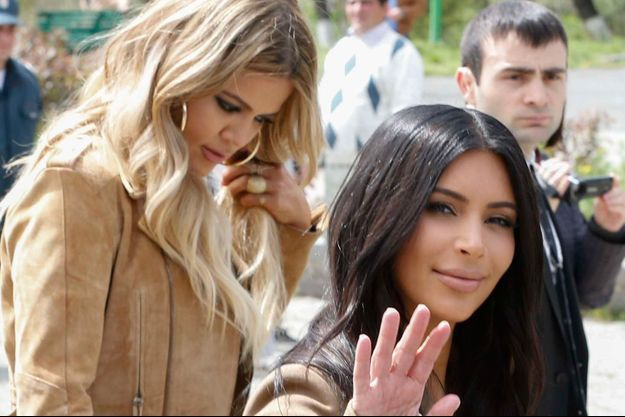 Kim et Khloé en Arménie.