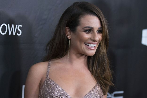 Lea Michele au gala de l'Amfar, Los Angeles, octobre 2014.