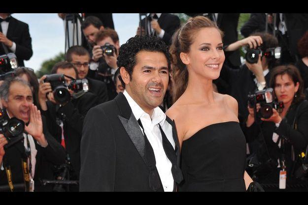 Jamel Debbouze et Mélissa Theuriau lors du Festival de Cannes, en 2010.