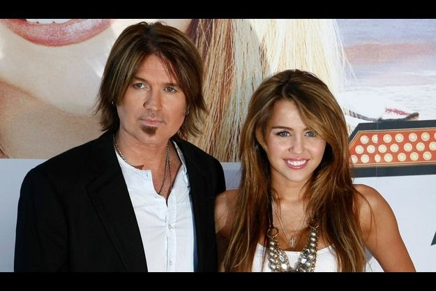 Miley et Billy Ray Cyrus en avril 2009.