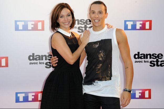 Nathalie Péchalat et Grégoire Lyonnet lors du lancement de la cinquième saison de Danse avec les stars, septembre 2014
