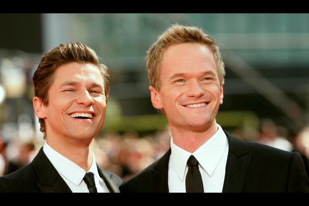 Neil Patrick Harris et David Burtka aux Emmy Awards en 2009