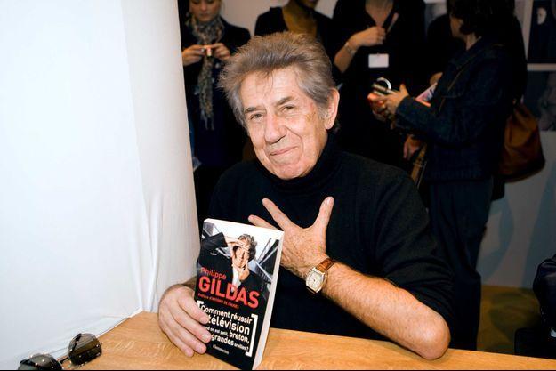 Philippe Gildas lors du Salon du livre en 2010 à l'occasion de la sortie de ses mémoires.