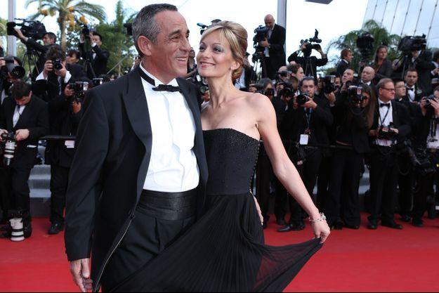Thierry Ardisson et Audrey Crespo-Mara au Festival de Cannes, en mai 2012.