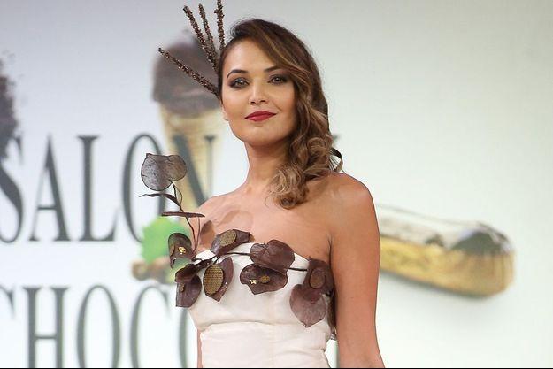 Valérie Bègue au Salon du Chocolat le 28 octobre 2014