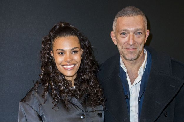 Vincent Cassel et sa femme Tina Kunakey lors du dîner de gala de l'association AEM à Paris le 11 décembre 2018