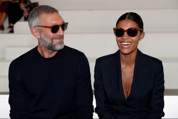 Vincent Cassel et Tina Kunakey à Milan en 2019