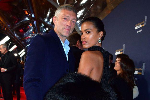 Vincent Cassel et Tina Kunakey aux César en février 2020
