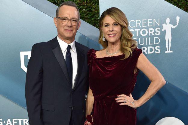 Tom Hanks et Rita Wilson en janvier 2020.