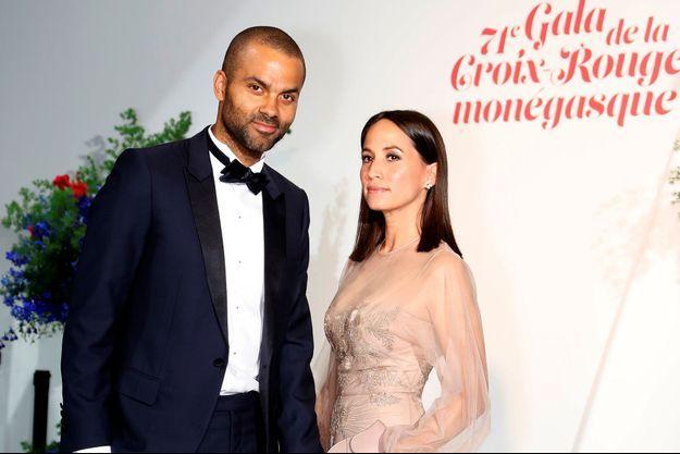 Tony Parker et son épouse Axelle à Monaco, le 26 juillet 2019