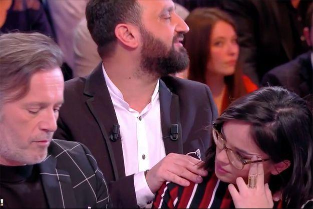 Après un recadrage en direct, Agathe Auproux quitte l'émission, le 8 février 2018.