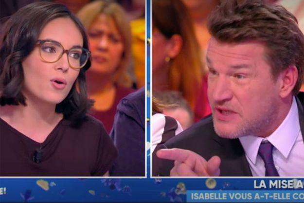 """Agathe Auproux et Benjamin Castaldi sur le plateau de """"TPMP"""" mercredi."""