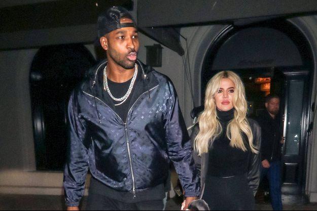 Khloé Kardashian et Tristan Thompson à Los Angeles le 13 janvier 2019