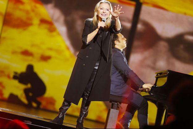 Véronique Sanson aux Victoires de la musique en février 2017.