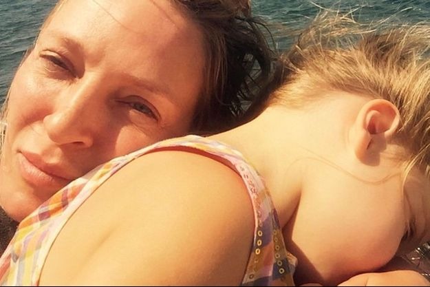 Uma Thurman et sa fille Luna