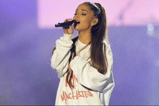 Ariana Grande lors du concert hommage aux victimes de l'attentat de Manchester, en juin dernier.