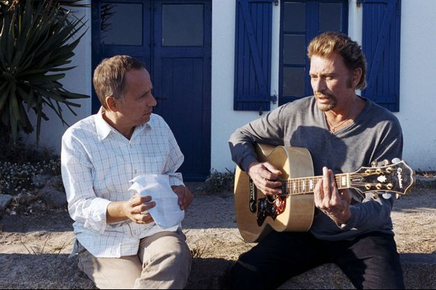 "Fabrice Luchini et Johnny Hallyday dans ""Jean-Philippe"" en 2006"