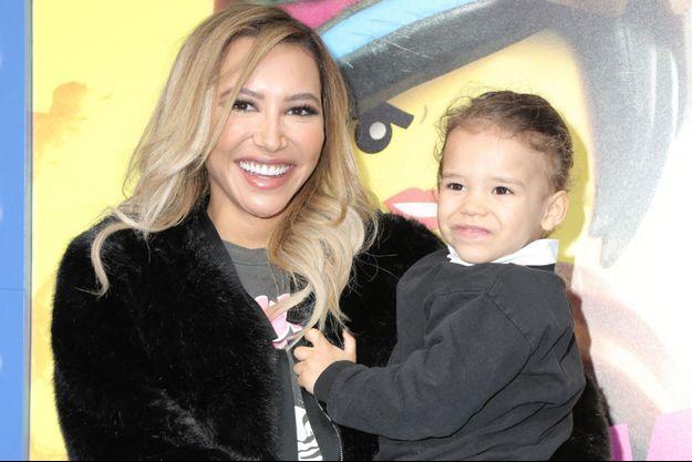 Naya Rivera et son fils à Los Angeles en février 2019.