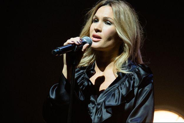 Vitaa en concert à l'Olympia, le 12 octobre 2017.