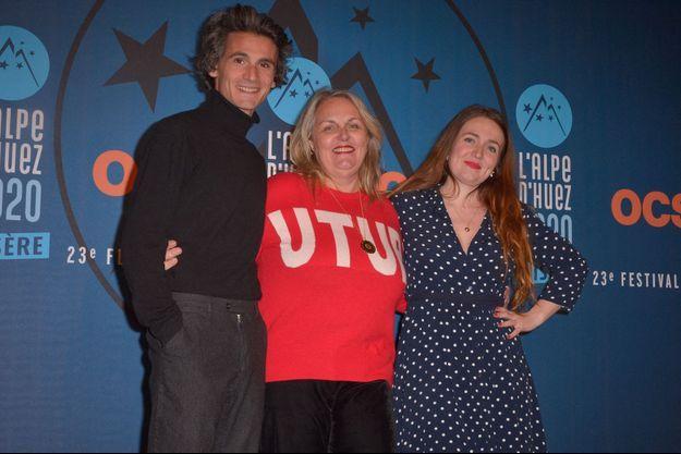 Valérie Damidot et ses enfants Norman et Roxane Damidot en janvier 2020.