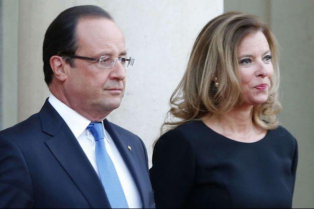 François Hollande et Valérie Trierweiler en 2013.