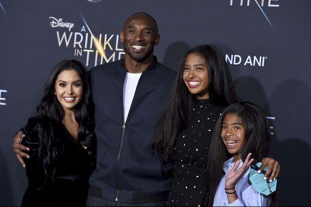Vanessa, Kobe, Natalia et Gianna Bryant en 2018