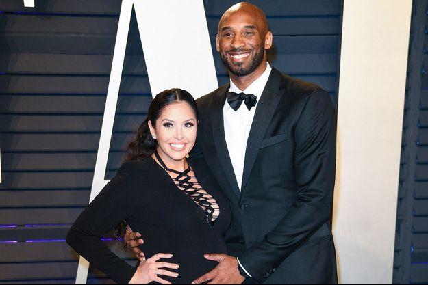 Vanessa (alors enceinte de Capri) et Kobe Bryant aux Oscars en février 2019
