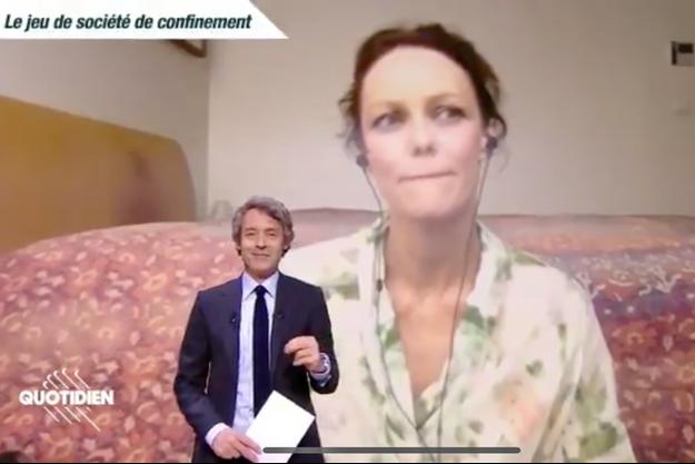 """Vanessa Paradis en direct dans l'émission """"Quotidien"""" mercredi 22 avril 2020"""