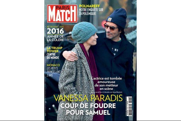 Vanessa Paradis, dans les rues de Paris, le 9 décembre, avec Samuel Benchetrit