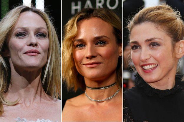 De gauche à droite : Vanessa Paradis, Diane Kruger, Julie Gayet