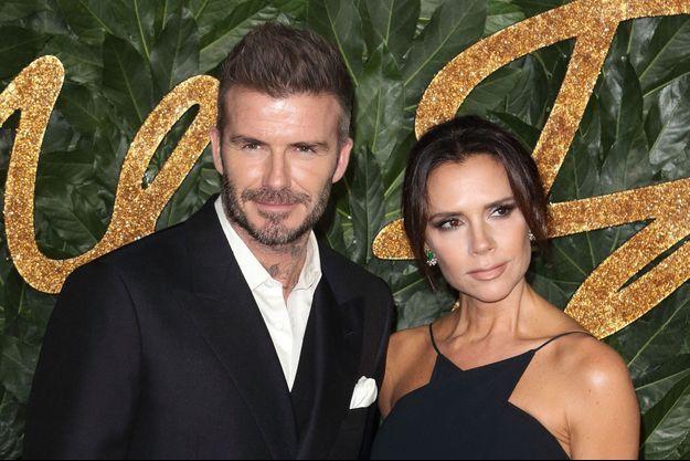 David Beckham et sa femme Victoria à Londres, le 10 décembre 2018