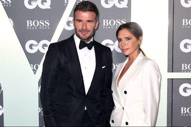 Victoria et David Beckham à Londres en septembre 2019.