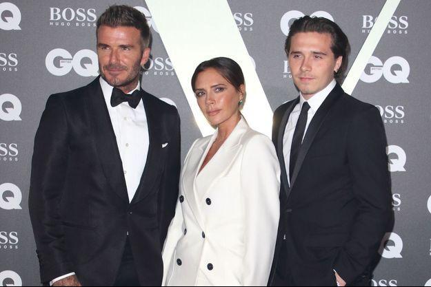 David, Victoria et Brooklyn Beckham