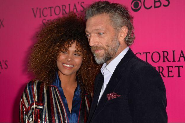 Tina Kunakey et Vincent Cassel à Paris, le 30 novembre 2016